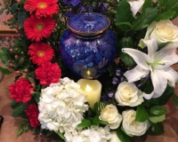 Oreilly Funeral Gallery Pic Cremation and urns with flower arrangement - pic 2
